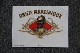 Etiquette - RHUM MARTINIQUE, Vieux Rhum. - Rhum