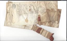 CHARLES DUC  D'ORLEANS  DE VALOIS  ( Prisonnier Après  Azincourt  )1417  Aide D'argent  à Son Vassal Jehan De Chabanes - Documenti Storici