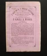 L'eco N S Delle Vittorie Rivista Arciconfraternita 1866 Gigli A Maria Monopoli - Livres, BD, Revues