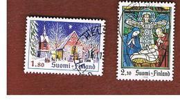 FINLANDIA (FINLAND) -  SG  1305.1306    -    1992   CHRISTMAS: COMPLET SET OF 2  -     USED ° - Usados