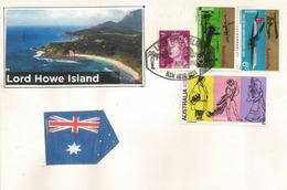 Lettre De L'île LORD HOWE, à Mi-distance Entre Australie Et Nouvelle-Zélande (World Heritage Site) - Timbres