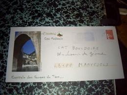 Enveloppe  Entier Postal  Pret A Poster  Illustrè OBLITÈRÈ Sainte Enimie  Capitale Des Gorges Du Tarn 30//01/01 - Biglietto Postale