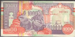 SOMALIA 1000 SHILLINGS 1990 2000 P-R10 PUNTLAND REGION LITHOGRAPHED BUNDLE X100 - Somalia