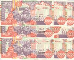SOMALIA 1000 SHILLINGS 1990 2000 P-R10 PUNTLAND REGION LITHOGRAPHED X10 UNC NOTES - Somalia