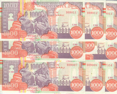 SOMALIA 1000 SHILLINGS 1990 2000 P-R10 PUNTLAND REGION LITHOGRAPHED X10 UNC NOTES - Somalië