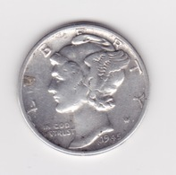 United States, 10c Mercury Dime, 1945, Philadelphia - Émissions Fédérales