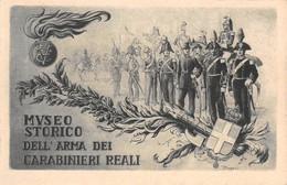 """0432 """"MUSEO STORICO DELL'ARMA DEI CARABINIERI"""" CART. ORIG. NON SPED. - Militaria"""