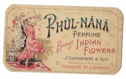 """CARTA PROFUMATA """"RHUL-NANA""""BOUQUET DI INDIAN FLOWERS J.GROSSMITA &SON BALLERINA INDIANA   -2-0882-28922 - Cartas Perfumadas"""