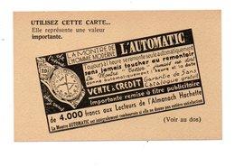 """PUBLICITÉ . """" L'AUTOMATIC """" . LA MONTRE DE L'HOMME MODERNE - Réf. N°21701 - - Non Classés"""