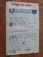 1942 Biglietto Postale Per Le Forze Armate, 36, Verificato Per Censura, Palermo Centro - 1900-44 Victor Emmanuel III