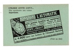 """PUBLICITÉ . """" L'AUTOMATIC """" . LA MONTRE DE L'HOMME MODERNE - Réf. N°21703 - - Non Classés"""
