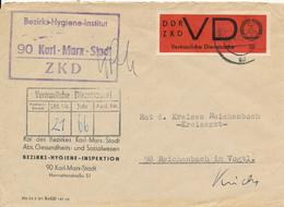 KARL-MARX-STADT - 1966 ,  ZKD  , Umschlag:  Beziks-Hygiene-Inspektion - Nach Reichenbach - Medizin