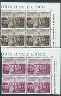 Italia 1967; Decennale Dei Trattati Di Roma , Serie Completa In Quartine D' Angolo Superiore. - 6. 1946-.. Republik
