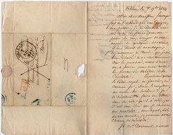 VP14.833 - Théatre - ORLEANS 1834 - LAS - Lettre Autographe Mr ? ( Régisseur ) à Mr FAUVAGE De PARIS - Autographes
