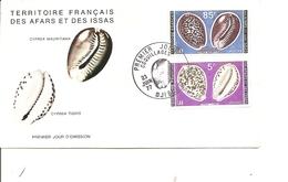 Coquillages  (  FDC Des Afars Et Issas De 1977 à Voir) - Conchas