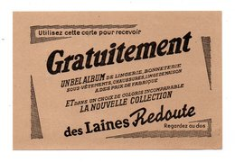 """PUBLICITÉ . """" LES LAINES REDOUTE """" . LA REDOUTE . ROUBAIX - Réf. N°21704 - - Habits & Linge D'époque"""