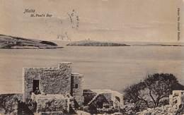 "0434 ""MALTA - ST. PAUL'S BAY"" CART. ORIG. SPED. 1912 - Malta"