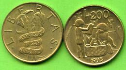 San Marino £.200 1995  Development Km#329 - Used - San Marino