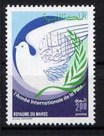 MAROC - 1011** - ANNEE INTERNATIONALE DE LA PAIX - Maroc (1956-...)