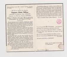 DOODSPRENTJE BILLAU EUGEEN WEDUWNAAR DEREUSE ECHTGENOOT DUMAREY ROESELARE VEURNE (1882 - 1959) - Images Religieuses