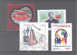 France Oblitérés : N°5199 - 5209 - 5211 & 5290 (cachet Rond) - France