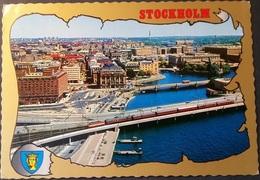 Ak Schweden - Stockholm - Übersicht - Eisenbahn , Railway - Schweden