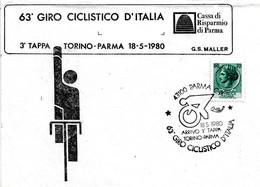 ITALIA - 1980 PARMA 63° Giro Ciclistico D'Italia 3^ Tappa Torino-Parma Su Busta Speciale - Francobolli