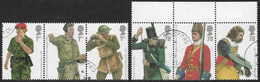GB SG2774-2779 2007 Army Uniforms (1st) Set 6v Se-tenant Superb Used [4/3792/25D] - 1952-.... (Elizabeth II)