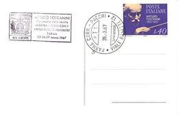 ITALIA - 1967 PARMA Cent. Nascita Di ARTURO TOSCANINI Ann. Speciale + Timbro Viola Su Cartolina Speciale - Francobolli