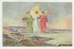 TRICOLORE - PROSPERITA' PACE PROGRESSO 1915 ILLUSTRATA   VIAGGIATA FP - Guerra 1914-18