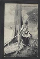 CPA Guinée Bissau Portugal Coupeur De Têtes Circulé - Guinea-Bissau