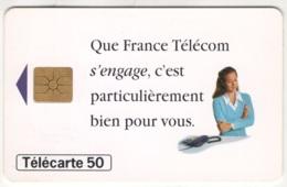 """Lot De 1 TC De 1995 Usagées """"Engagement France Télécom"""" De 50 U. Y & T : 656 - France"""