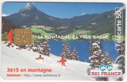 """Lot De 1 TC De 1997 Usagées """"Ski France 2"""" AD De 50 U. Y & T : 808 - France"""