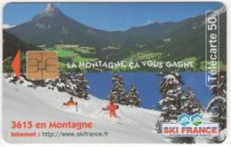 """Lot De 1 TC De 1997 Usagées """"Ski France 3"""" AD De 50 U. Y & T : 850 - France"""