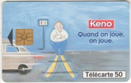 "Lot De 1 TC De 1998 Usagées ""Keno T1G"" AD De 50 U. Y & T : 908 - France"