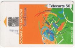 """Lot De 1 TC De 1998 Usagées """"France 98 : Affiche De St Etienne""""  AD De 50 U. Y & T : 918 - France"""