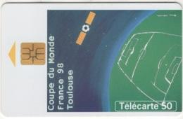 """Lot De 1 TC De 1998 Usagées """"France 98 : Affiche De Toulouse""""  AD De 50 U. Y & T : 919 - France"""