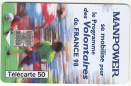 "Lot De 1 TC De 1998 Usagées ""Manpower T1G""  AD De 50 U. Y & T : 929 - France"
