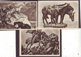 3 X AK Kunst HDK Pferd Pferde, Photo Hoffmann München, 1940er Propaganda - Lettres & Documents