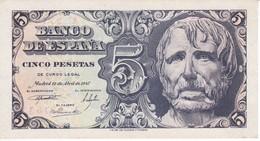 BILLETE DE ESPAÑA DE 5 PTAS DEL AÑO 1947 DE SENECA SERIE A EN CALIDAD EBC (XF) - 5 Pesetas