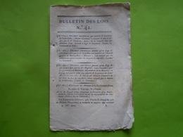 Napoléon An XIII:Responsabilité Des Communes.Tableau Tarif De Prix Des Chevaux De Poste:cabriolet,berline... Brevets - Décrets & Lois