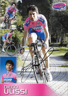 CARTE CYCLISME DIEGO ULISSI SIGNEE TEAM LAMPRE - ISD 2011 - Cyclisme