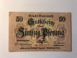 Allemagne Notgeld Bayreuth 50 Pfennig - [ 3] 1918-1933 : République De Weimar