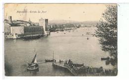 CPA-13-1905-MARSEILLE-ENTREE DU VIEUX PORT-ANIMEE-PERSONNAGES ET VOILIERS-VOIR CACHETS - Vieux Port, Saint Victor, Le Panier