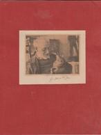 Autographe D'Henri MATISSE, Peintre / Photo D' H. Matisse Avec Son Chat. - Autographes