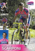 CARTE CYCLISME MICHELE SCARPONI SIGNEE TEAM LAMPRE - ISD 2011 - Cyclisme