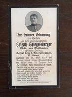 Sterbebild Wk1 Ww1 Bidprentje Avis Décès Deathcard RIR1 ARRAS 14. Mai 1915 Aus Weibhausen - 1914-18