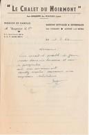 """Courrier Publicité """" Le Chalet Du Noirmont"""" / A. DAGUIER / Les Graviers / Les Rousses / Bois D'Amont / 39 Jura - France"""
