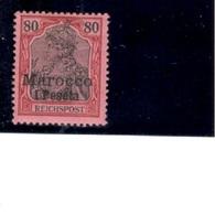 German MOROCCO1900/3:Michel14mh* - Bureau: Maroc