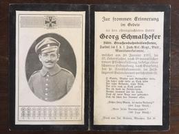 Sterbebild Wk1 Ww1 Bidprentje Avis Décès Deathcard 1. Fuss AR Valenciennes FRASNOY Block 6 Grab 140 - 1914-18